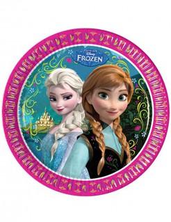 Disney Frozen Pappteller Olaf Kinderparty-Deko 8 Stück bunt 23cm