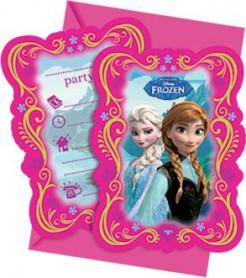 Frozen Die Eiskönigin™ Einladungskarten Lizenzware 6 Stück bunt