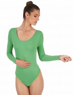 Elastischer Langarm-Body Kostümzubehör grün