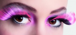 Glatte geschwungene Wimpern Kunstwimpern rosa