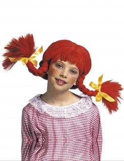 Rote Zopf Perücke für Kinder rot