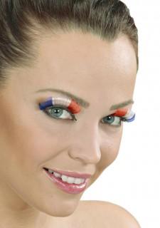 Falsche Wimpern Frankreich Fanartikel blau-weiss-rot
