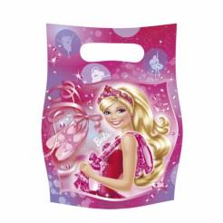 Barbie™ Geschenktüten Kindergeburtstag Lizenzware 6 Stück bunt 23x16cm