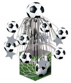 Fussball-Fontäne Tischdeko grün-schwarz-weiss 31,75cm
