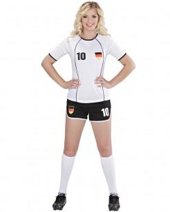 Fussball Nationalspielerin Deutschland Damenkostüm weiss-schwarz