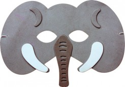 Elefanten-Kindermaske grau