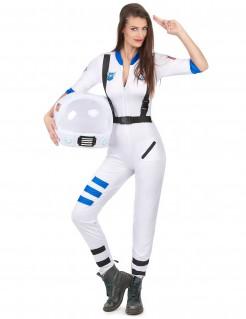 Sexy Astronautin Damenkostüm Raumfahrerin weiss-blau-schwarz
