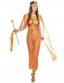 ägyptische Königin Damen-Kostüm orange-gold
