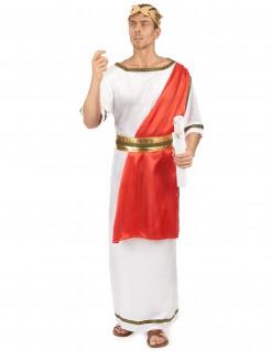 Edles Römerkostüm für Herren rot-weiss-gold