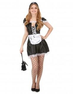 Zimmermädchen Damen-Kostüm schwarz-weiß