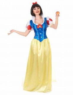 Bezaubernde Märchen-Prinzessin Damenkostüm Schneewittchen gelb-blau-rot