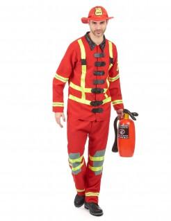 Feuerwehrmann-Herrenkostüm rot-gelb-schwarz