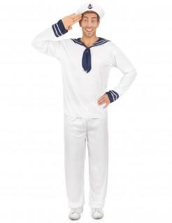Tüchtiger Matrose Seefahrer Kostüm weiss-blau
