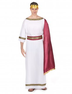 Römischer Kaiser Herrenkostüm weiss-rot-gold
