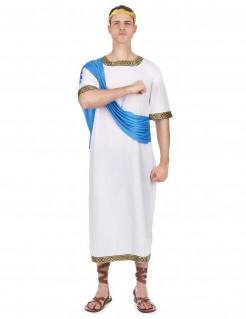 Griechischer Gott Herren-Kostüm weiss-blau-gold