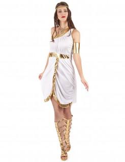 Griechische Göttin Damenkostüm Antike weiss-gold