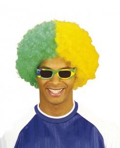 Brasilien Perücke gelb-grün