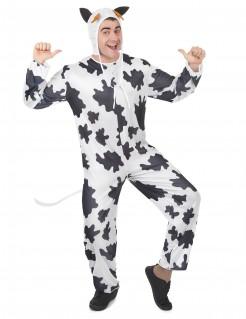 Lustiges Kuh Tierkostüm schwarz-weiss