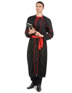 Heiliger Bischof Herrenkostüm rot-schwarz