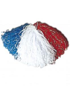 Frankreich-Pompom Länder-Fanartikel blau-weiss-rot