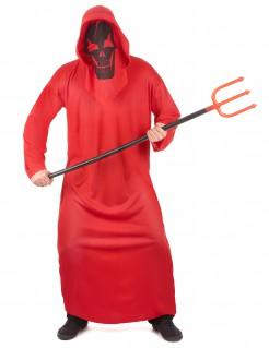 Luzifer Totengeist Unisex-Kostüm rot-schwarz