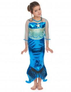 Kleine Meerjungfrau Kinderkostüm Nixe blau-lindgrün
