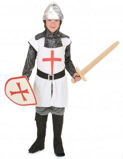 Ritter Kinderkostüm Mittelalter weiss-rot-silber