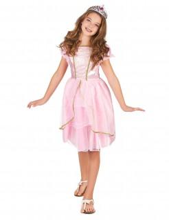 Prinzessinnen-Kostüm Mädchen rosa-weiss-gold