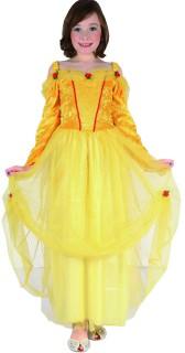 Prinzessin Kinderkostüm mit Rosen gelb-rot