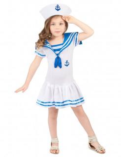 Matrosin-Mädchenkostüm Seemannsfrau blau-weiss