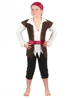 Piratenkostüm für Kinder braun-rot-weiss