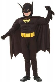 Superhelden Fledermaus Kinderkostüm schwarz-gelb