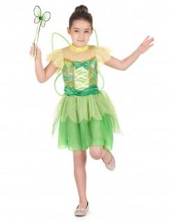 Fee-Mädchenkostüm Märchen grün-gelb