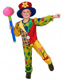 Zirkusclown-Kostüm für Kinder bunt