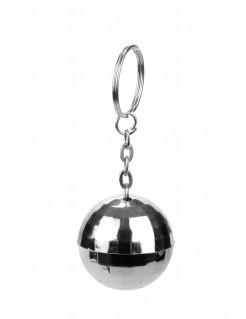 Discokugel Schlüsselanhänger silber 3,5cm