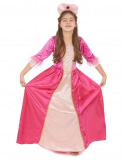 Süsse Prinzessin-Kinderkostüm Burgfräulein rosa-pink-gold