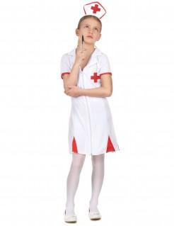 kleine Krankenschwester Kinder-Kostüm rot-weiss