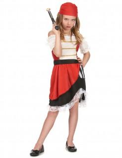Piratenmädchen Kinder-Kostüm bunt