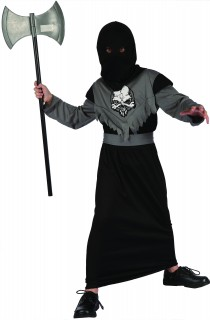 Schauriger Henker Halloween-Kinderkostüm schwarz-grau