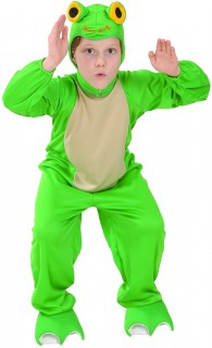 Süßes Frosch Kinder-Kostüm grün