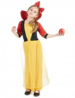 Märchen-Prinzessin Kinderkostüm gelb-rot-schwarz