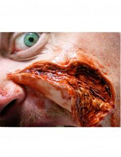 Aufgeschnittene Haut Wundenapplikation 3D-Aufkleber rot