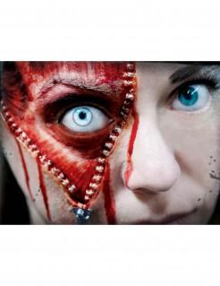 Reissverschluss Halloween-Tattoo 3-teilig grau-rot