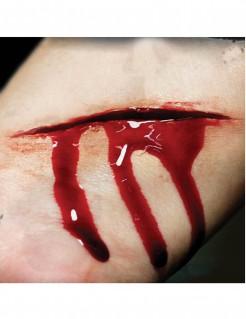 Wunden-Tattoos Schnittwunden 2 Stück rot