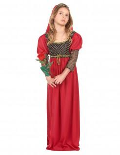 Julia Mädchenkostüm Theater-Kostüm rot-schwarz-gold