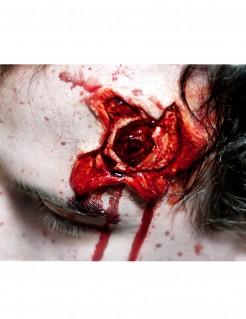 Horror-Tattoo Schusswunde Abziehbild Wunde rot