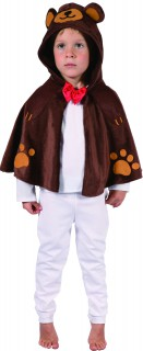 Bären-Umhang Tier Kinderkostüm braun-rot