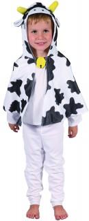 Kuh-Umhang Kuh-Kinderkostüm weiss-schwarz-gelb