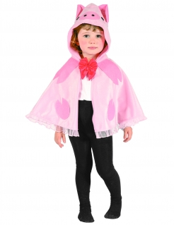 Schweinchen Umhang Kinder Tierkostüm rosa-pink