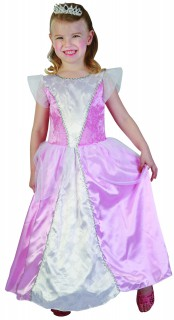 Süßes Prinzessin Kinder-Kostüm rosa-weiss